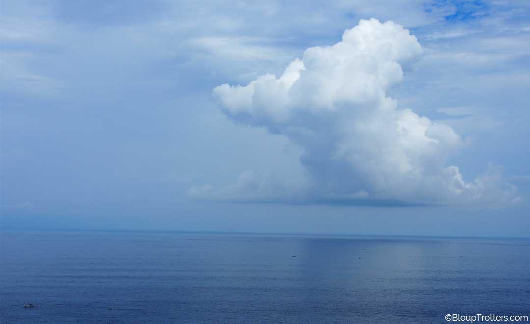 mer, nuage, horizon