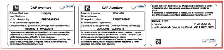 Carte Assurance Chapka