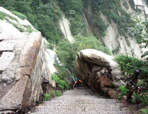 escaliers du mont hua