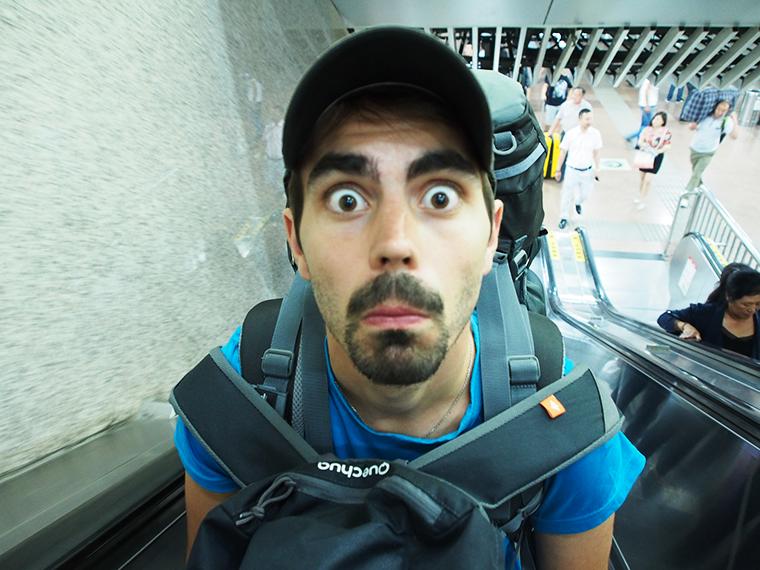 Greg dans le métro à Pékin