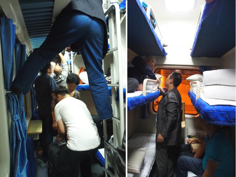 Hard sleeper train en Chine