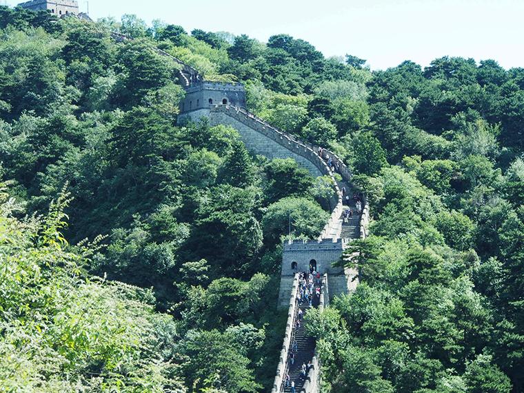 Vue de la muraille de chine à Mutianyu