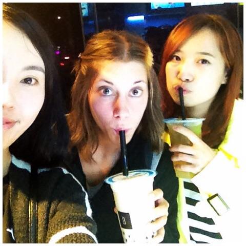 Selfie Bubble tea entre filles :)