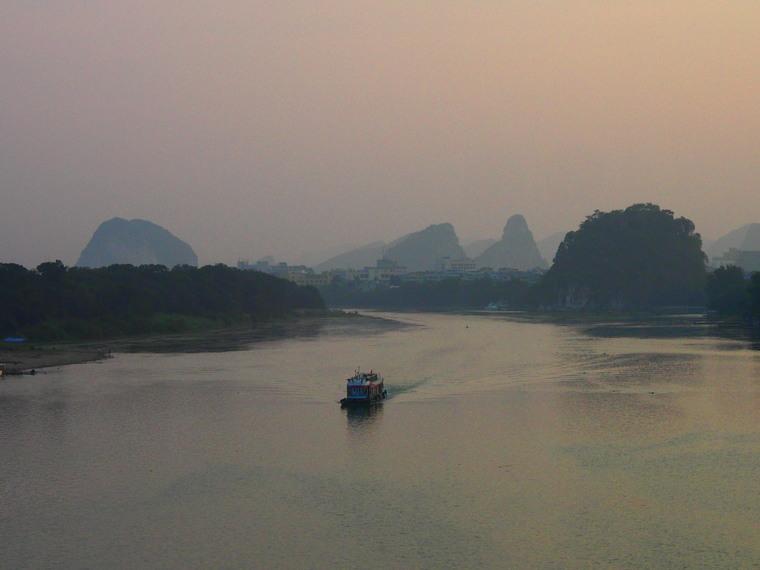 La rivière-Li qui traverse Guilin !