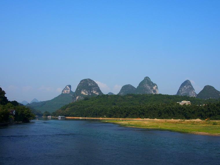 La rivière-Li depuis le centre de Yangshuo