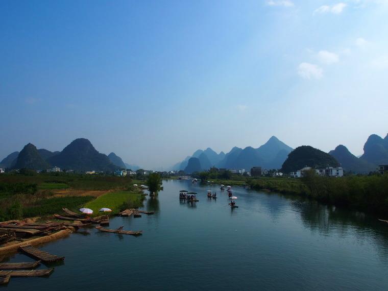Vue sur la Hulong river !