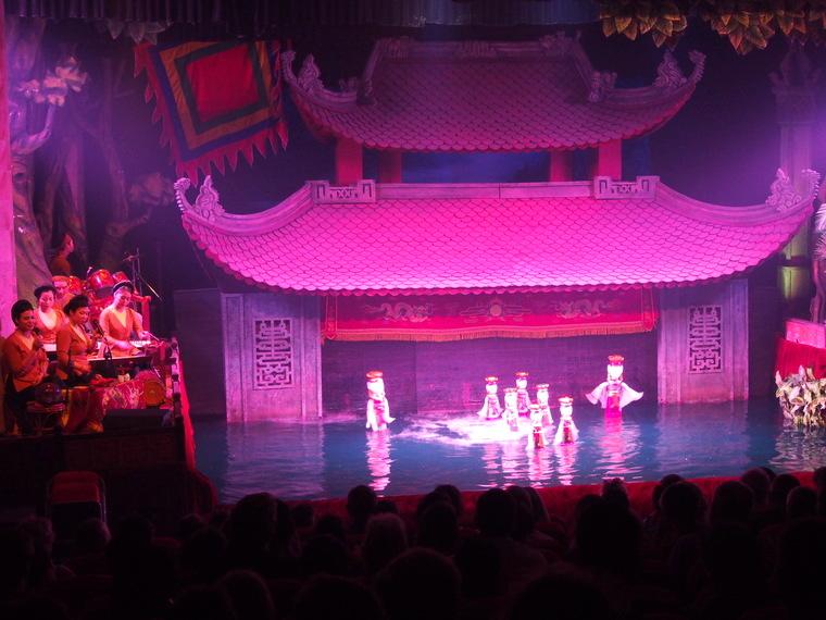 Le water puppet show d'Hanoï, une déception pour nous !