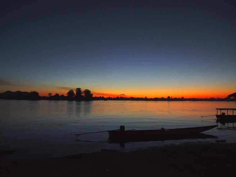 coucher soleil 4000 iles laos