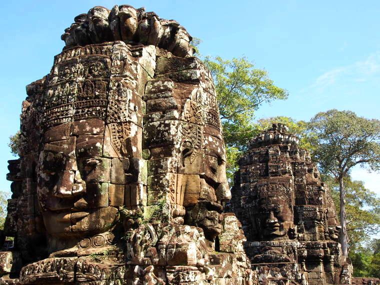 Les visages du temple Bayon d'Angkor Thom
