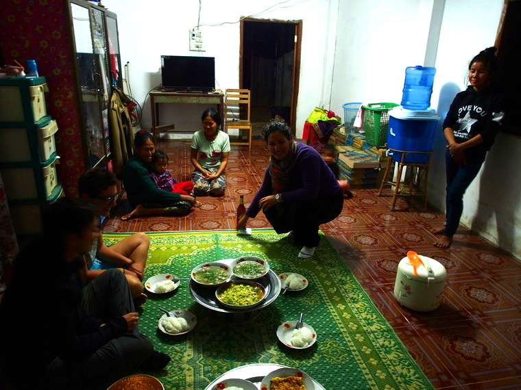 repas homestay laos