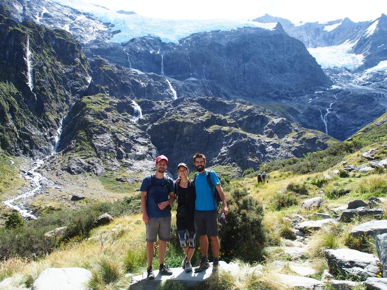 Petit trek avec Guillaume pour voir le Rob Roy Glacier :)