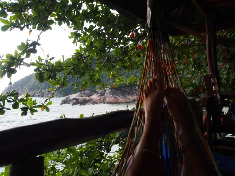 bungalow hamac vu sur mer thailande