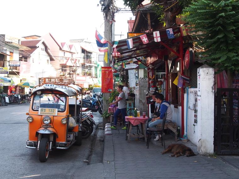 rue chiang mai thailande