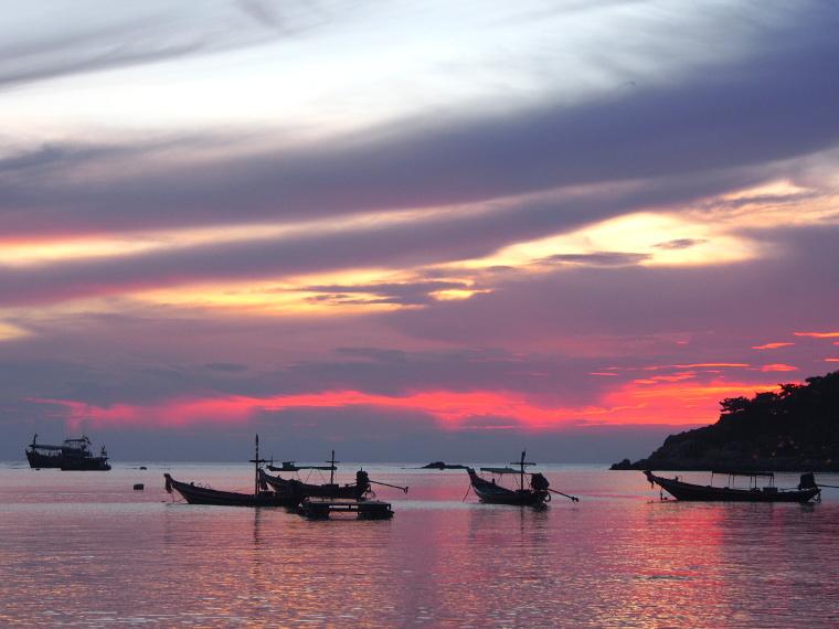 coucher de soleil plage thailande