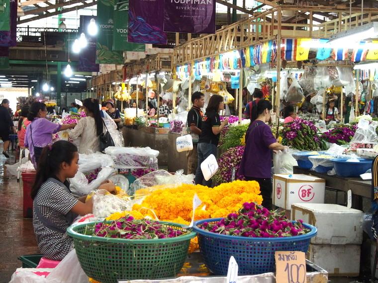 marcher fleurs bangkok