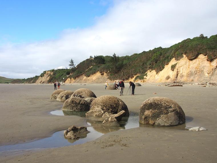 moreaki boulders nouvelle zelande