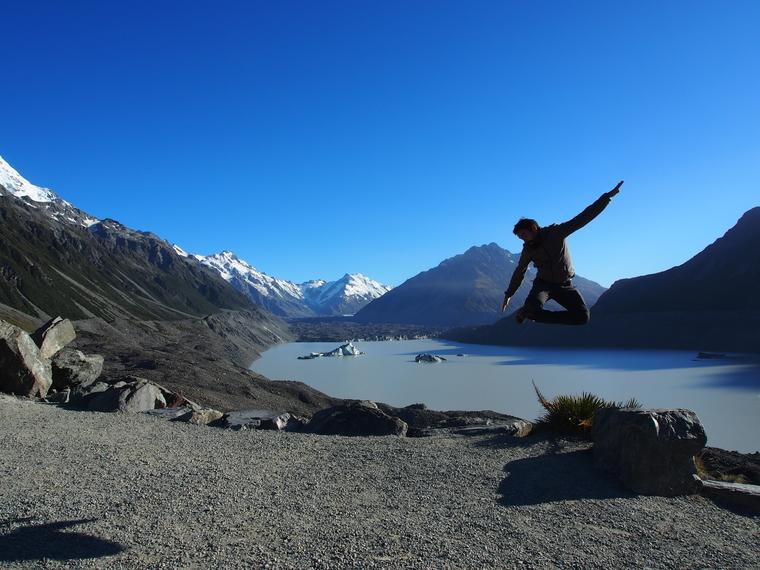 tasman glacier mont cook nz