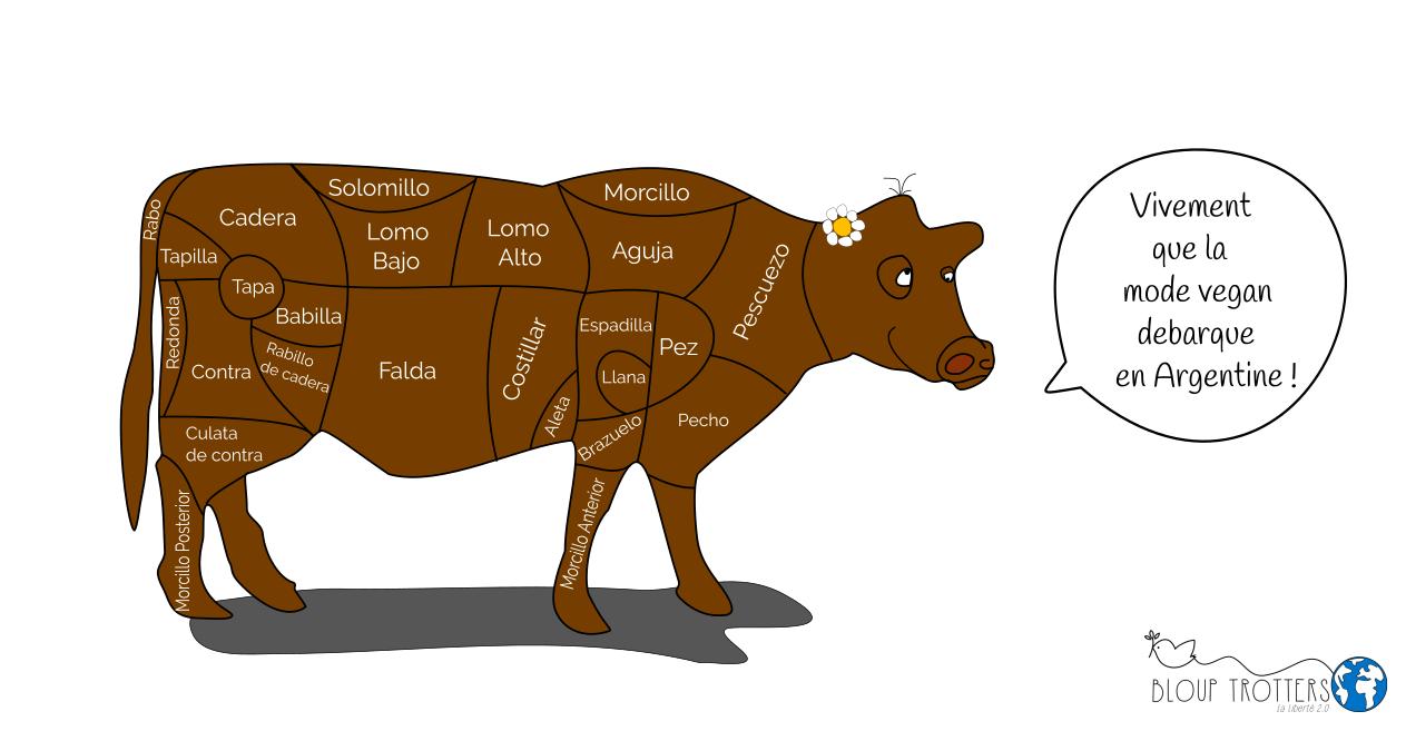 dessin vache viande argentine bloup trotters